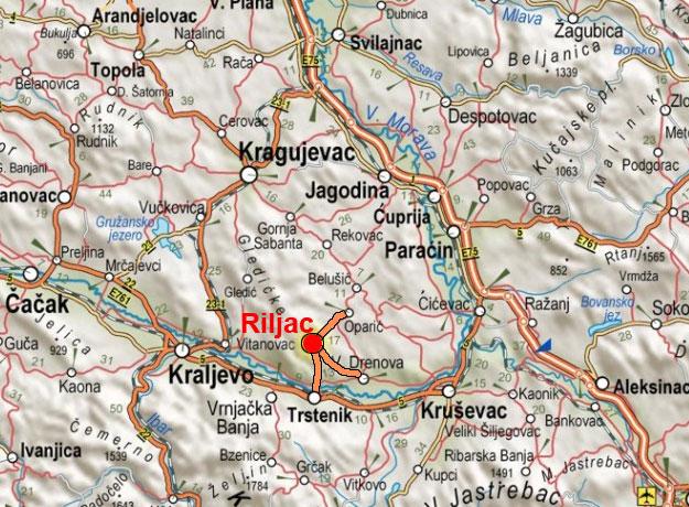 Karta Centralne Srbije Superjoden